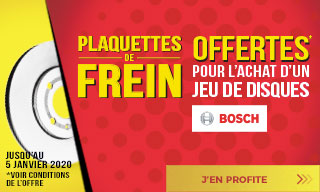 Offre promotion freins Bosch